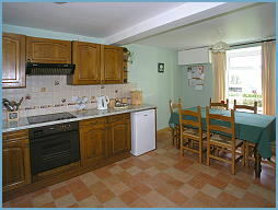 self catering kitchen of the property nr betws-y-coed, snowdonia